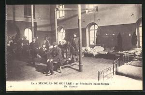 AK Issy-les-Moulineaux, Le Secours de Guerre au Seminaire Saint-Sulpice, un Dortoir