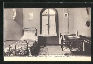 AK Issy-les-Moulineaux, Le Secours de Guerre au Seminaire Saint-Sulpice, Chambre du Cardinal Amette