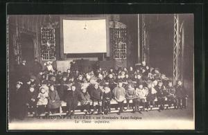 AK Issy-les-Moulineaux, Le Secours de Guerre au Seminaire Saint-Sulpice, La Classe enfantine
