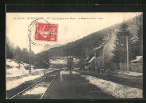 AK Le Lioran, La Gare et le Puy Grion en Hiver