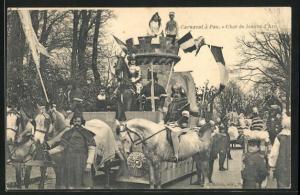 AK Pau, Carnaval, Char de Jeanne d`Arc