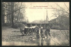 AK Bonnefont, Les Bords de la Baise, Waschfrauen