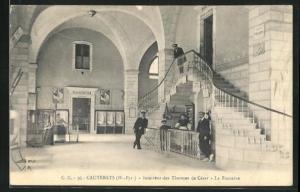 AK Cauterets, Interieur des Thermes de Cesar, la Fontaine