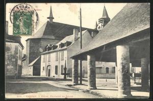 AK Campan, Halle, Fontaine et Eglise