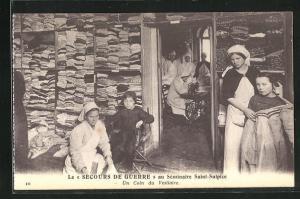 AK Issy-les-Moulineaux, Le Secours de Guerre au seminaire Saint-Sulpice, un coin du Vestiaire