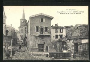AK Chatelguyon, L`Eglise et la Place du Marché