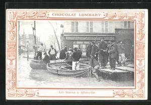 AK Alfortville, Les Marins, Hochwasser
