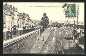 AK Limoges, Avenue de la Gare et Gare