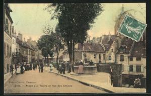 AK Dole, Place aux fleurs et rue des Arènes