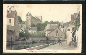 AK Montargis, Le Chateau, vu du Canal