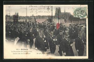 AK Orleans, La Procession de Jeanne d`Arc, Societe des Ambulanciers