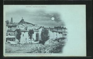 Mondschein-AK Le Puy, Les Bords du Dolaizon