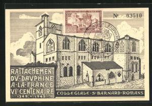 AK Romans, Collegiale St. Barnard, Rattachement du Dauphine a la France VIe Centenaire 1349-1949