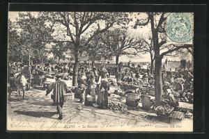 AK Blois, Le Marche, Marktfrauen