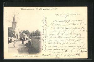 AK Marsauceux, Le Temple, Blick auf Kirche