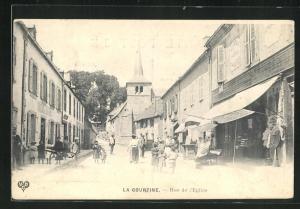 AK La Courtine, Rue de l`Eglise