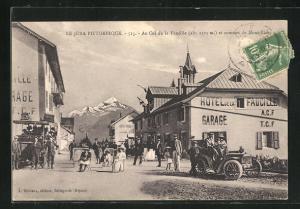 AK Col de la Faucille, Hotel et sommet du Mont-Blanc