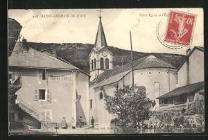 AK Saint-Germain-de-Joux, Hotel Egraz et l`Èglise