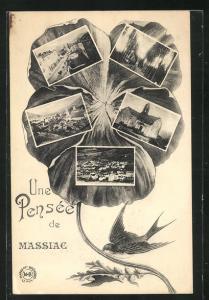 AK Massiac, Fünf Ansichten des Ortes