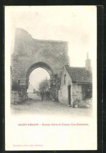 AK Saint Vèrain, Ruines, Porte de Cosnes, Vue Extèrieure