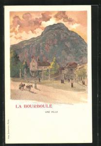 Künstler-AK La Bourboule, Une Villa