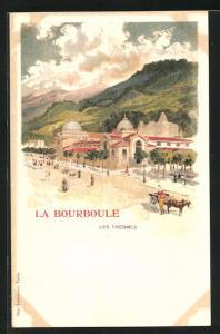 Künstler-AK La Bourboule, Les Thermes