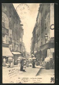 AK Limoges, La Rue du Clocher