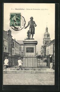 AK Montdidier, Statue de Parmentier