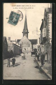 AK Saint-Remy-sur-Avre, La place, vue prise de la grande rue