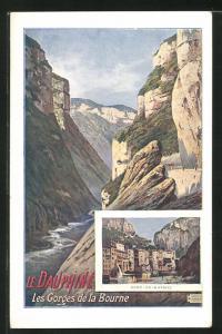 AK Pont-en-Royans, Les Gorges de la Bourne