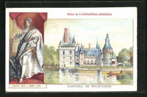 Künstler-AK Maintenon, Chateau, Porträt Louis XIV