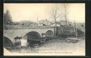 AK St-Gaudens-Valentine, Pont sur la Garonne