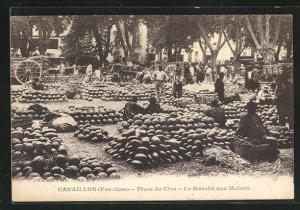 AK Cavaillon, Place du Clos-Le Marchè aux Melons