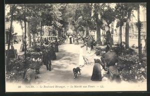 AK Tours, Le Boulevard Bèranger-Le Marchè aux Fleurs