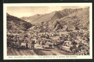 AK Valloire, Vue Gènèrale et la Barre des Ecrins