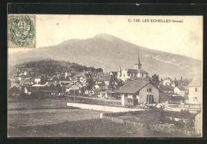 AK Les Echelles, Ortsansicht mit Kirche