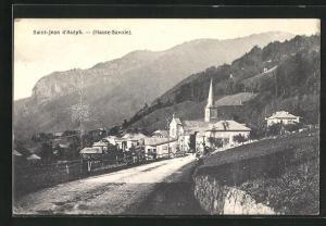 AK Saint-Jean d`Aulph, Ortsansicht mit Kirche