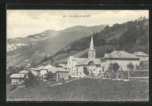 AK St-Jean-D`Aulph, Ortsansicht mit Kirche