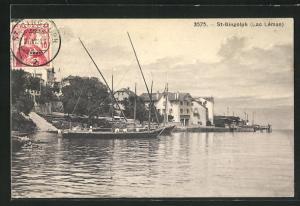 AK St-Gingolph, Partie am See Léman