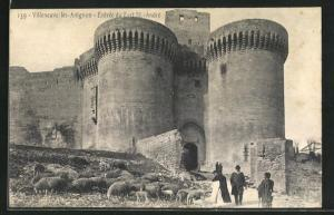 AK Villeneuve-les-Avignon, Entree du Fort St.-Andre
