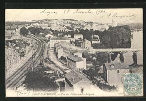 AK Pont-d`Avignon, Vue sur Villeneuve-les-Avignon