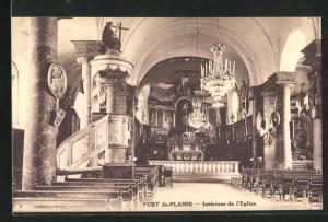 AK Fort-du-Plasne, Interieur de l`Eglise