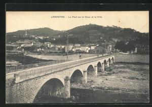 AK Lamastre, Le Pont sur le Doux et la Ville
