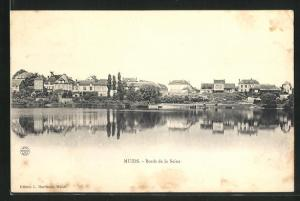 AK Muids, Bords de la Seine
