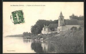 AK La Marche, L`Eglise et les Bords de la Loire