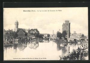 AK Merville, La Lys un Jour de Concours de Peche