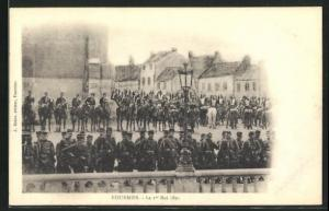 AK Fourmies, Fete le 1er Mai 1891, Infanterie & Cavallerie