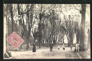 AK Beaumont-s /-Sarthe, Personnes dans les Promenades de la Motte