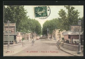 AK Avignon, Porte de la Republique