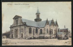 AK Attigny, Vue sur l`Eglise